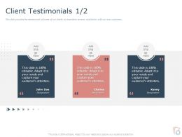 Client Testimonials L1806 Ppt Powerpoint Presentation Model File Formats