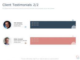 Client Testimonials L1807 Ppt Powerpoint Presentation Infographic Template