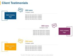 Client Testimonials Management Ppt Powerpoint Presentation File Show