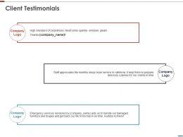 Client Testimonials Management Ppt Powerpoint Presentation Show