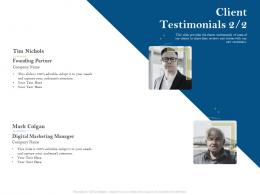Client Testimonials Marketing Pension Plans Ppt Powerpoint Presentation Elements