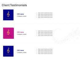 Client Testimonials Marketing Ppt Powerpoint Presentation Summary Topics