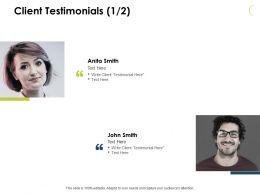 Client Testimonials Members J53 Ppt Powerpoint Presentation File Clipart