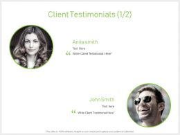 Client Testimonials Members J69 Ppt Powerpoint Presentation File