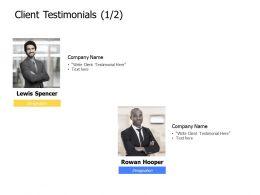 Client Testimonials Members K341 Ppt Powerpoint Presentation Mockup