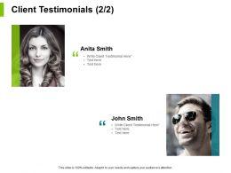 Client Testimonials Members Ppt Powerpoint Presentation File Ideas