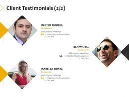 Client Testimonials Planning A402 Ppt Powerpoint Presentation Ideas Demonstration