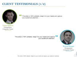 Client Testimonials Planning C1000 Ppt Powerpoint Presentation Ideas Influencers