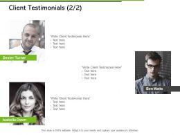 Client Testimonials Planning Ppt Powerpoint Presentation File Pictures