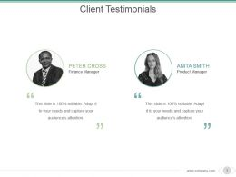 Client Testimonials Powerpoint Presentation Examples