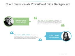 Client Testimonials Powerpoint Slide Background