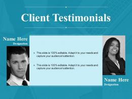 Client Testimonials Powerpoint Slide Themes