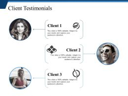 Client Testimonials Ppt Infographic Template