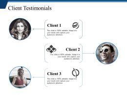 Client Testimonials Ppt Infographic Template