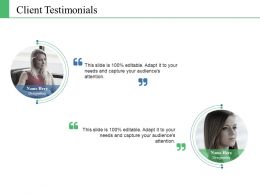 Client Testimonials Ppt Model Introduction