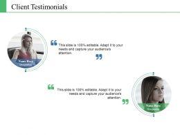 Client Testimonials Ppt Model Introduction