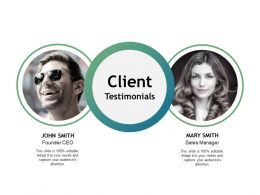 Client Testimonials Ppt Powerpoint Presentation File Gallery