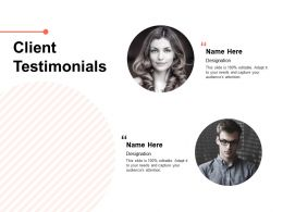 Client Testimonials Ppt Powerpoint Presentation Ideas Clipart