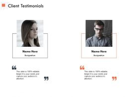 Client Testimonials Ppt Powerpoint Presentation Outline Visual Aids