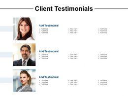 Client Testimonials Ppt Powerpoint Presentation Slides Example
