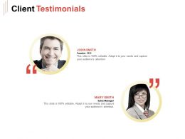 Client Testimonials Ppt Powerpoint Presentation Summary Background Images