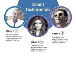 Client Testimonials Ppt Show Clipart Images