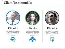 Client Testimonials Ppt Show Structure