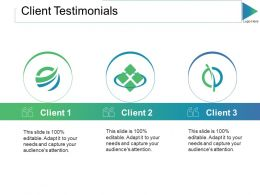 Client Testimonials Ppt Slides Graphic Tips