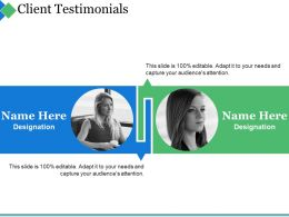 Client Testimonials Ppt Summary Designs Download