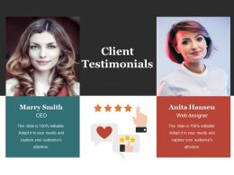 Client Testimonials Presentation Portfolio