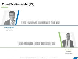 Client Testimonials R77 Ppt Powerpoint File Topics