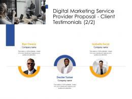 Client Testimonials Teamwork Digital Marketing Service Provider Proposal Ppt Powerpoint Icon