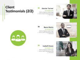 Client Testimonials Teamwork Ppt Powerpoint Presentation Pictures Designs