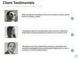 Client Testimonials Teamwork Ppt Powerpoint Presentation Slides Deck