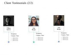 Client Testimonials Teamwork Software Designing Proposal Ppt Powerpoint Introduction
