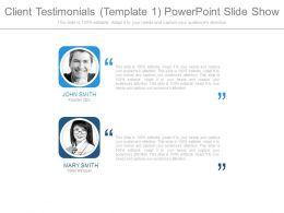 Client Testimonials Template1 Powerpoint Slide Show