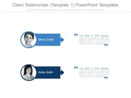 Client Testimonials Template1 Powerpoint Templates