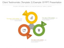 Client Testimonials Template2 Example Of Ppt Presentation