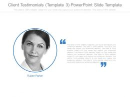 Client Testimonials Template3 Powerpoint Slide Template