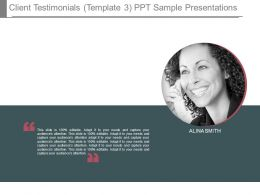 Client Testimonials Template3 Ppt Sample Presentations