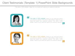 Client Testimonials Template 1 Powerpoint Slide Backgrounds