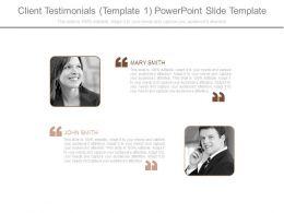 Client Testimonials Template 1 Powerpoint Slide Template