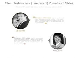 Client Testimonials Template 1 Powerpoint Slides