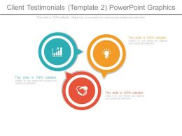 Client Testimonials Template 2 Powerpoint Graphics
