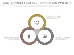 Client Testimonials Template 2 Powerpoint Slide Introduction