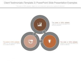 Client Testimonials Template 2 Powerpoint Slide Presentation Examples