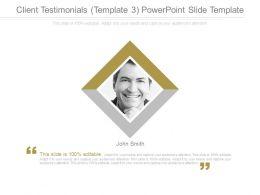 Client Testimonials Template 3 Powerpoint Slide Template