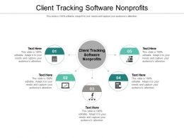 Client Tracking Software Nonprofits Ppt Powerpoint Presentation Infographics Graphics Cpb