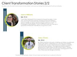 Client Transformation Stories Continue Vast Powerpoint Presentation Grid