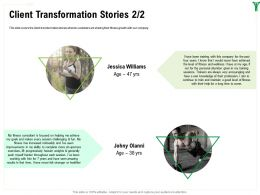 Client Transformation Stories Jessica Williams Ppt Powerpoint Presentation File Examples